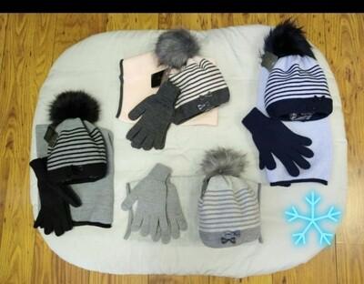 Fleece Hat  Snood & Gloves Set