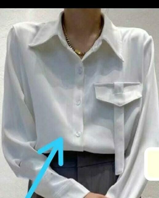 Silky White Blouse