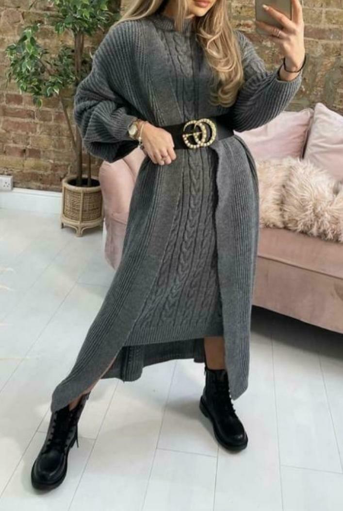 Knit Dress & Cardigan