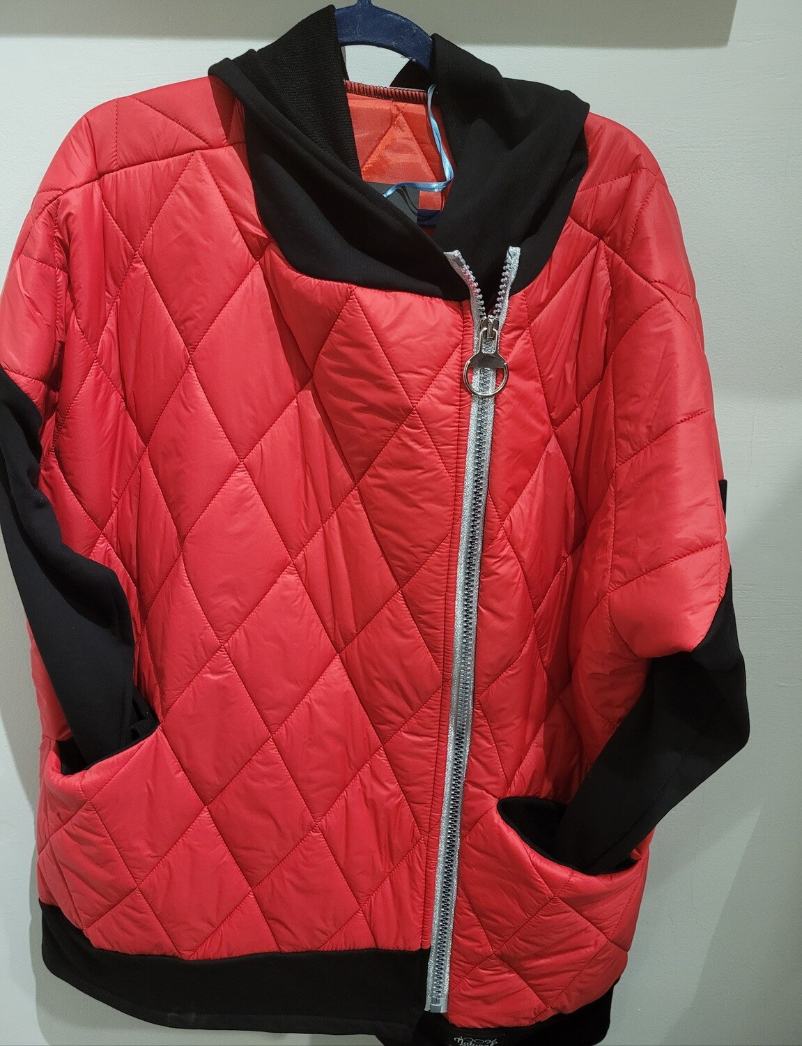 Red Oversized Jacket with hood