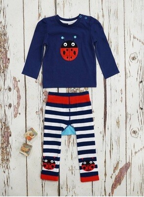 Baby Outfit, Ladybird Top & Leggings
