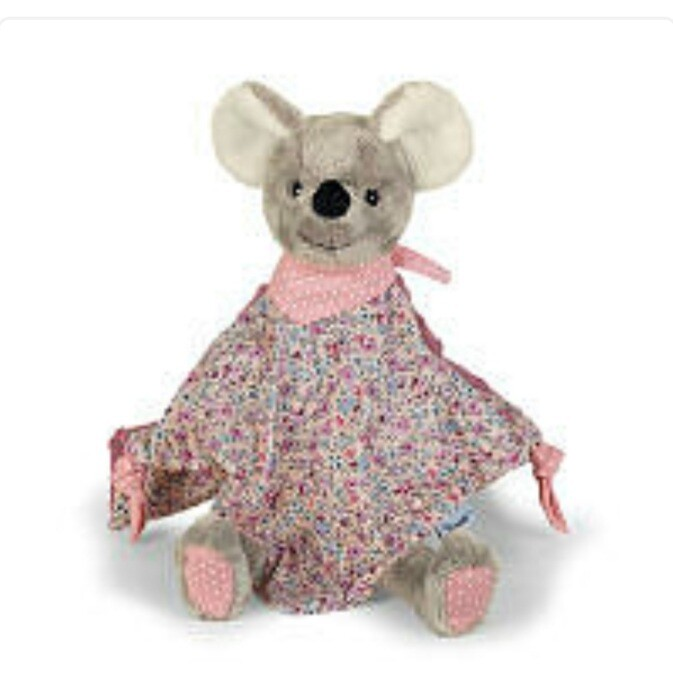 Kiddies Cuddle Cloth Pink Mouse