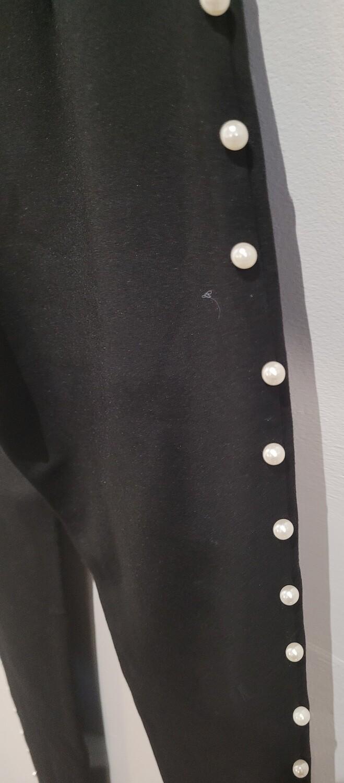BLACK Leggings with Pearl detail