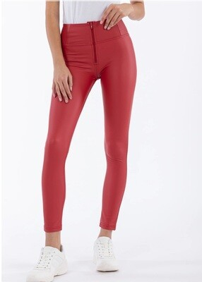 Freddy High Waist Red Faux Leather