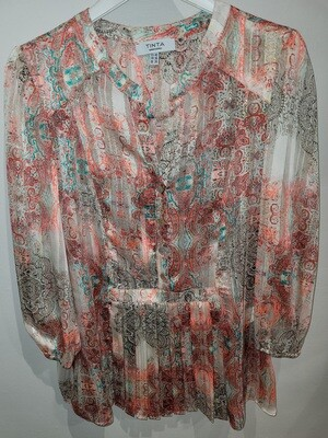 Aire Silk Pattern Top