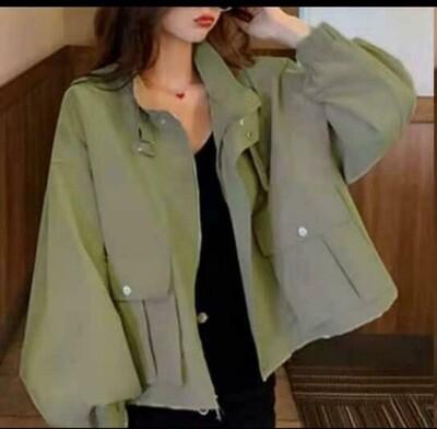 Apple Green Short Cotton Jacket