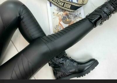 Biker Style Vegan Leather Leggings