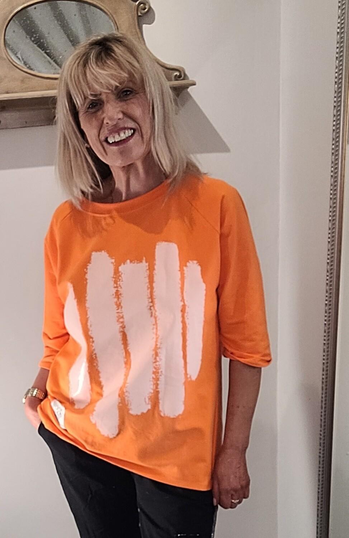 Orange stroke Sweatshirt