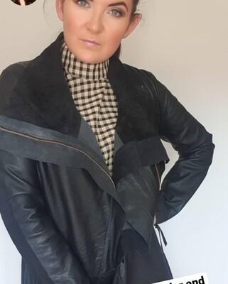 Leather Coat.  Estrella