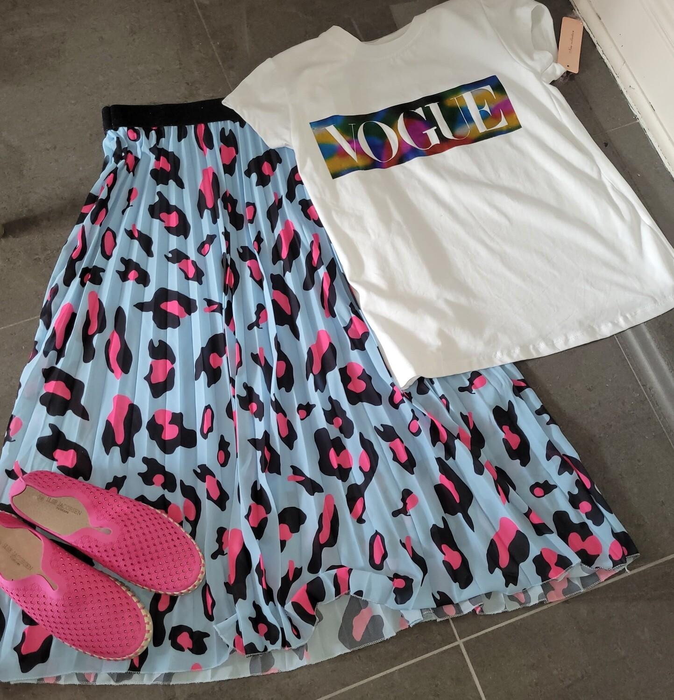 Mulicolour Pleated Skirt