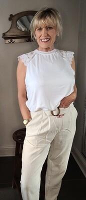 Cotton/Limen mix Trousers