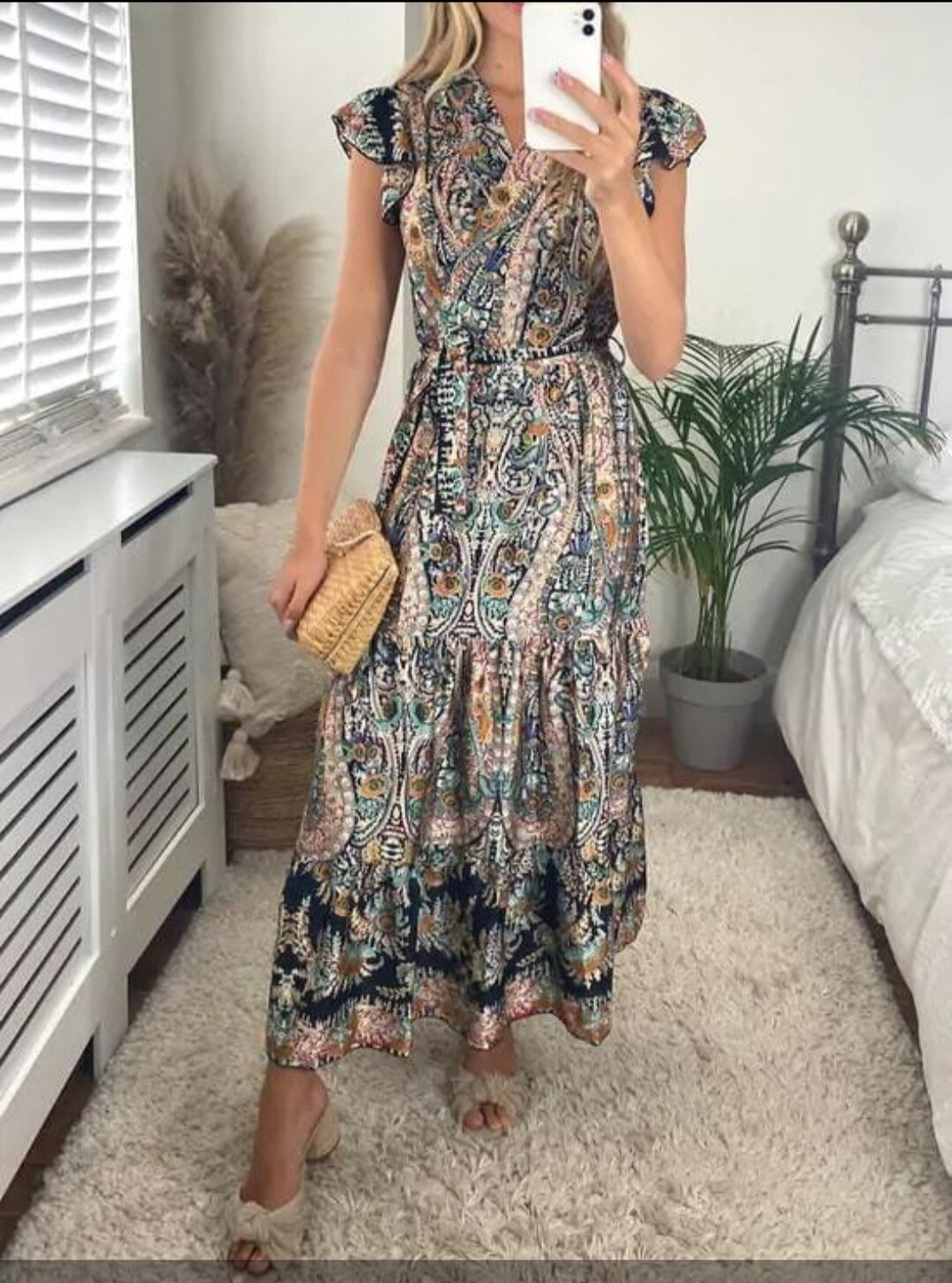 Vintage Print Boho Dress