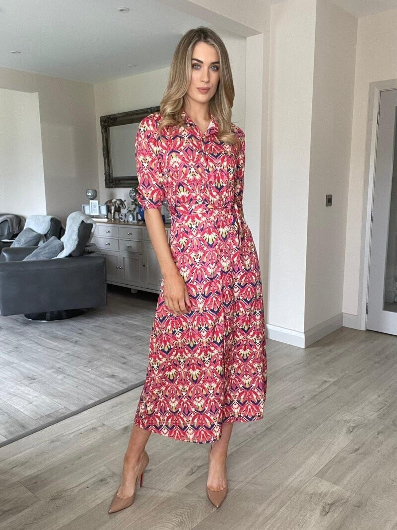 Kate and Pippa Luca Print Dress