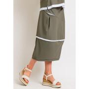 Naya Contrast Skirt Green