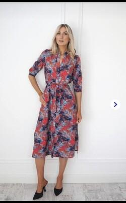 Capri Shirt Dress Abstract Design