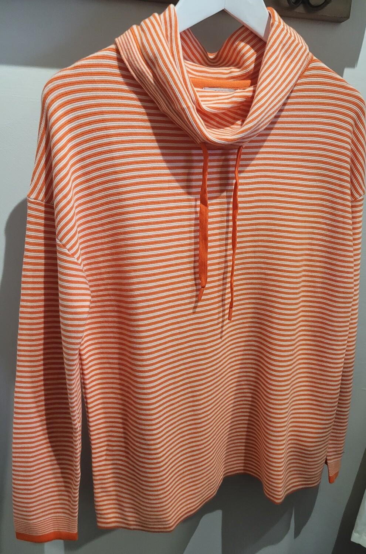 Stripe Roll Neck Pullover