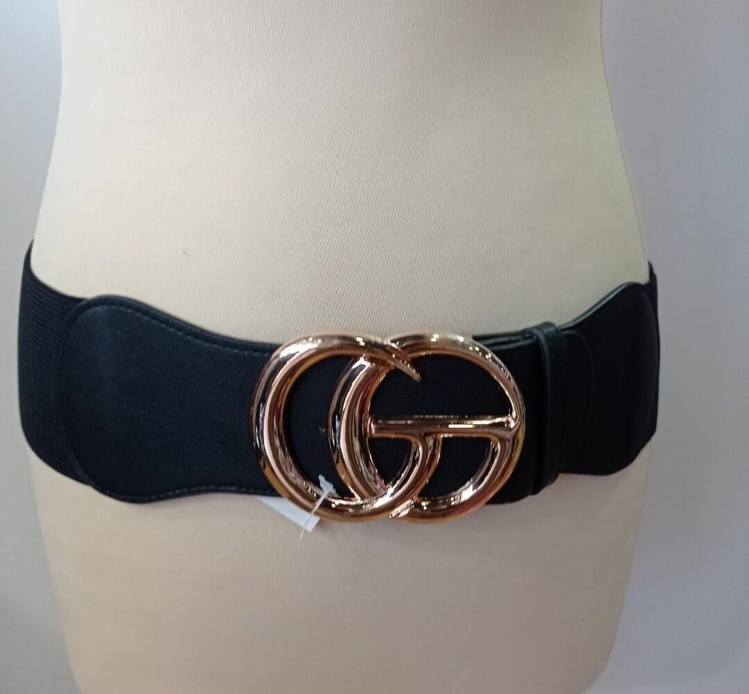 Stretchy Gold GG Belt