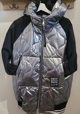 Silver Padded Hooded Jacket