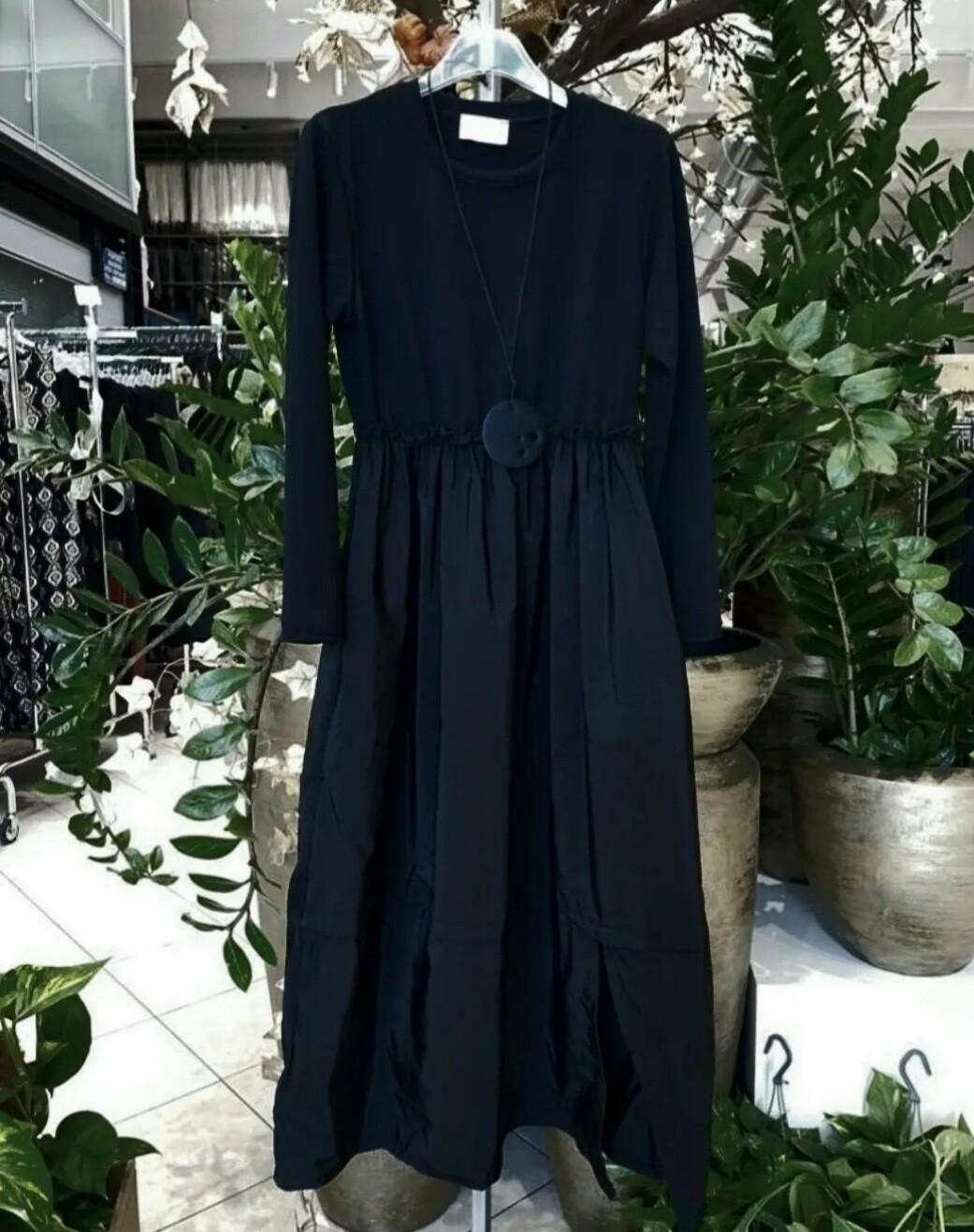 Black Tafetta Dress