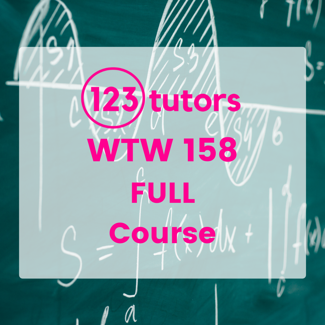 WTW 158: Calculus Fundamentals for Engineers