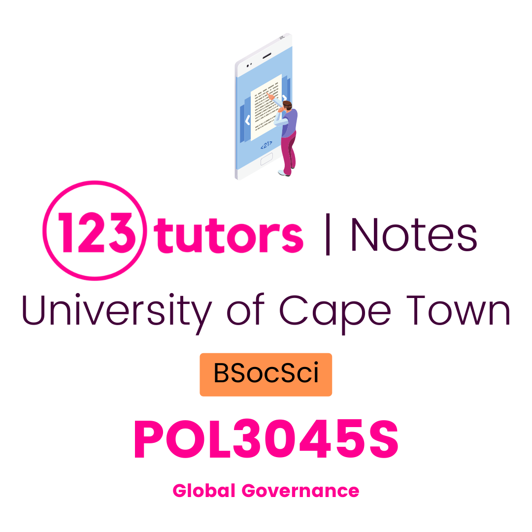 (UCT Notes) - POL3045S: Global Governance