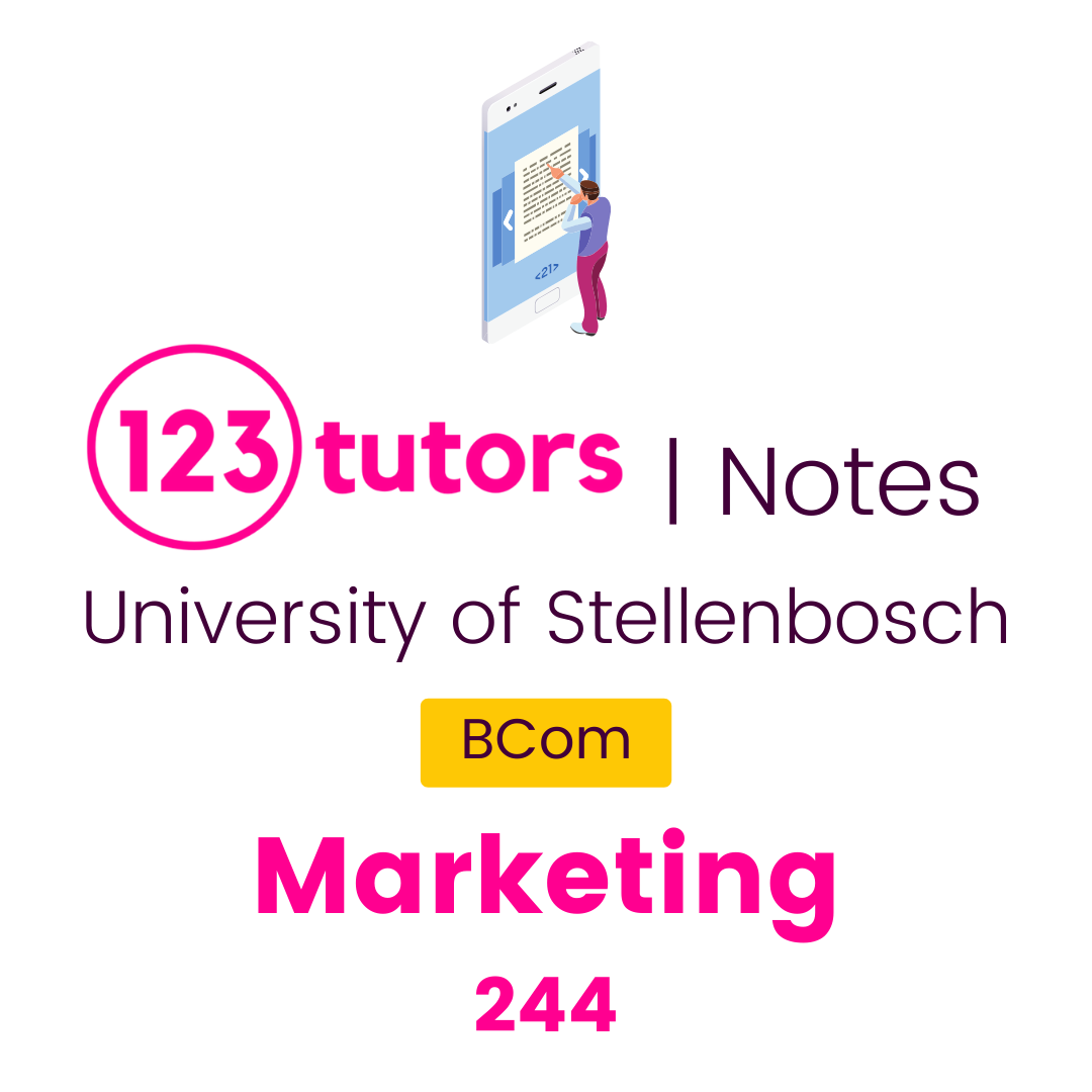 (Stellies Notes) - Marketing 244