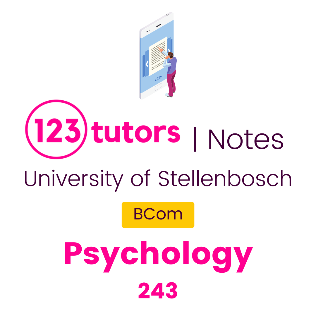 (Stellies Notes) - Psychology 243