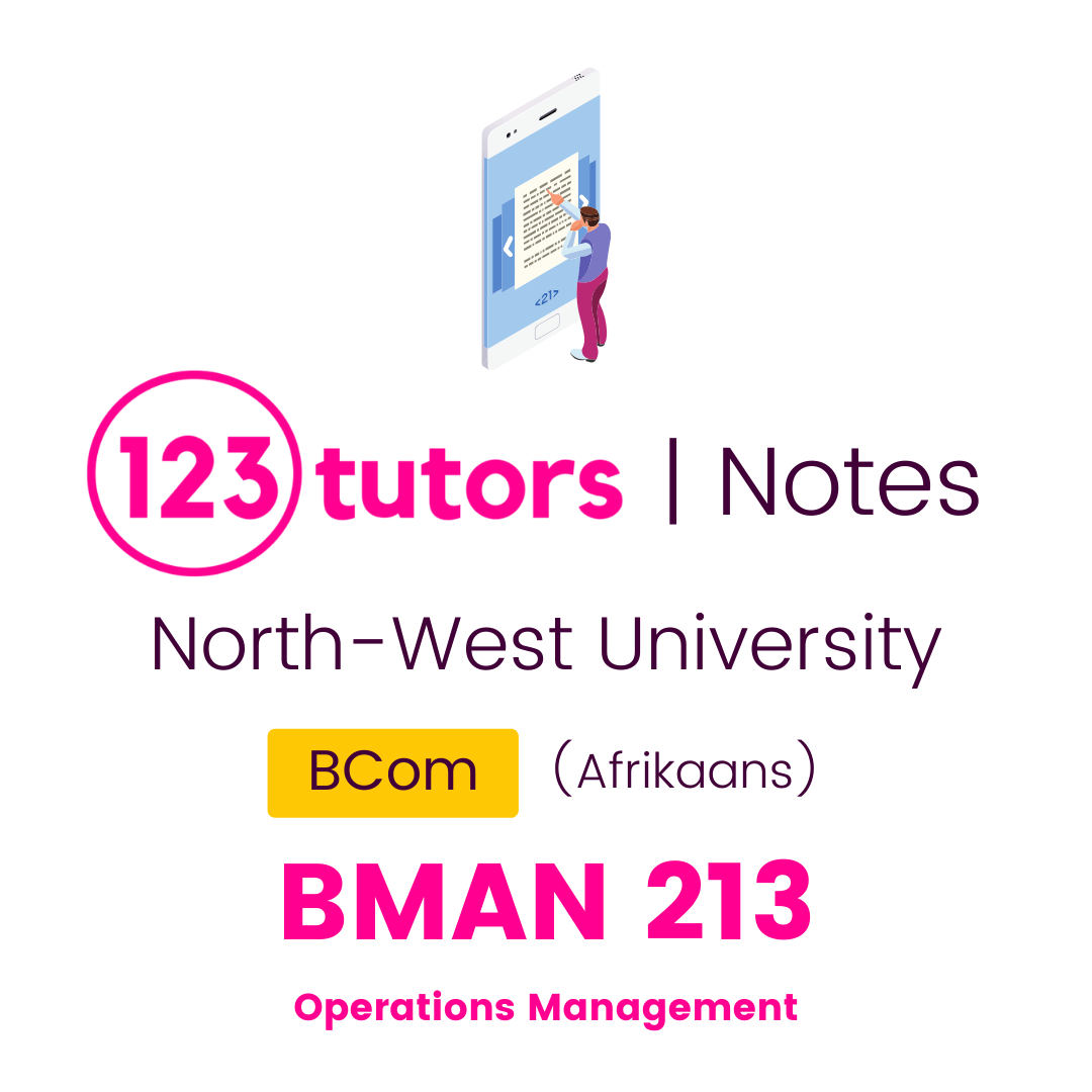 (NWU Notes) - BMAN213: Operations Management (Afrikaans)