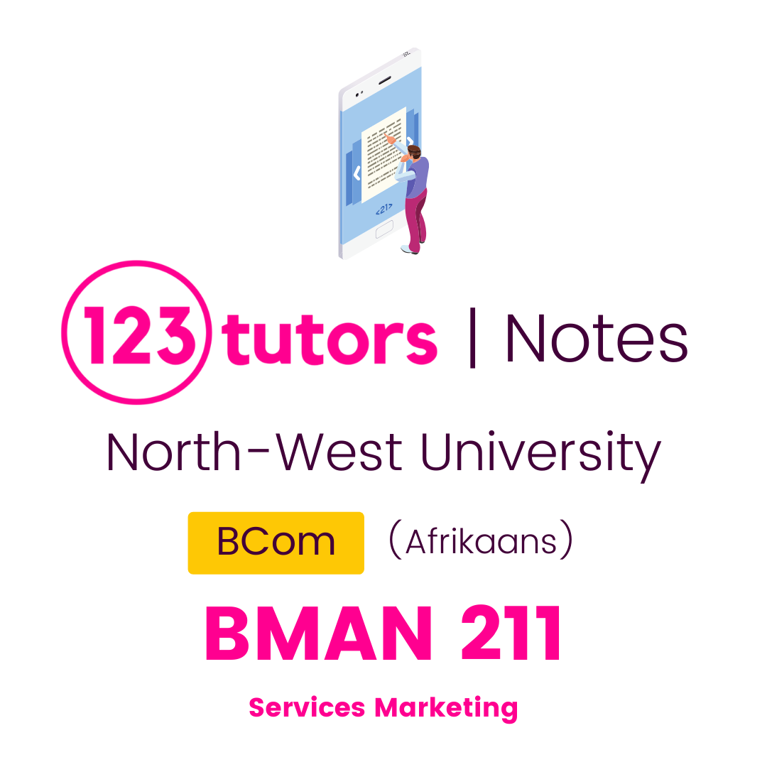 (NWU Notes) - BMAR211: Services Marketing (Afrikaans)