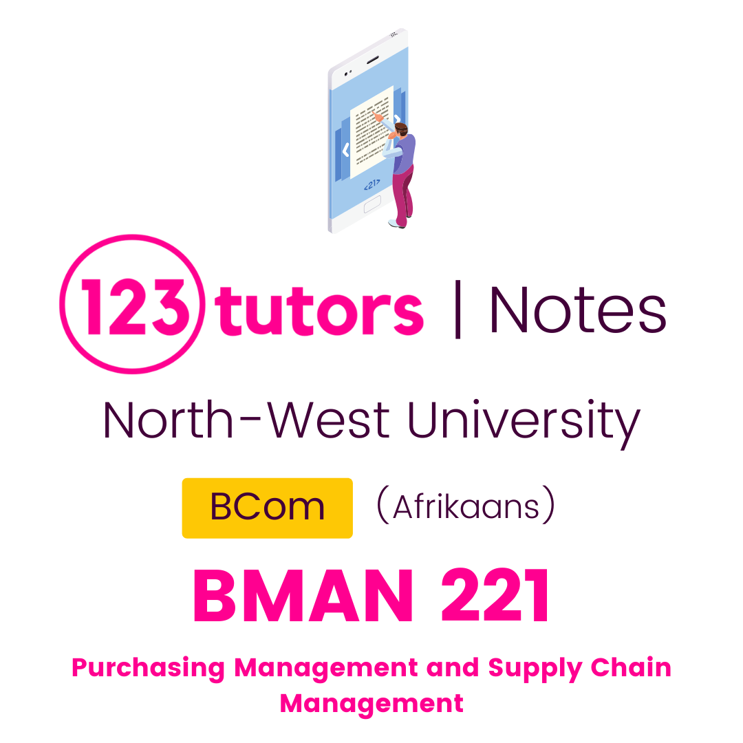 (NWU Notes) - BMAN221: Purchasing Management and Supply Chain Management (Afrikaans)