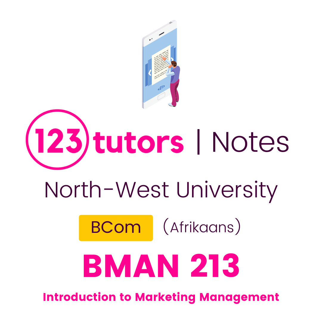 (NWU Notes) - BMAR213: Introduction to Marketing Management (Afrikaans)