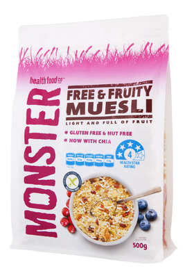 6 x 500g - Gluten Free - Muesli - Free & Fruity