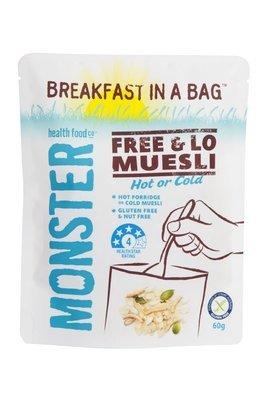 10 x 60g - Gluten Free Muesli - Breakfast in a Bag  - Free & Lo