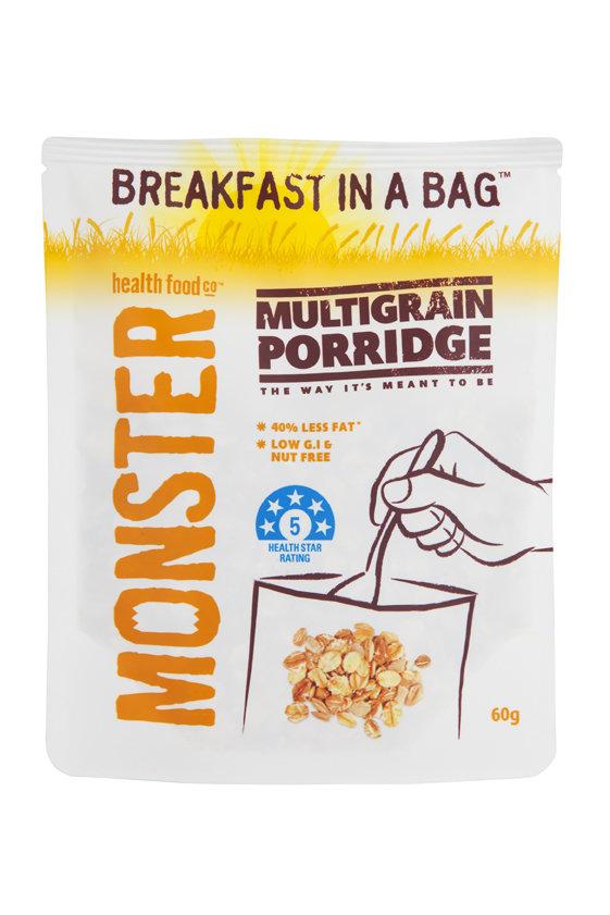 10 x 60g - Porridge Multigrain - Breakfast in a Bag