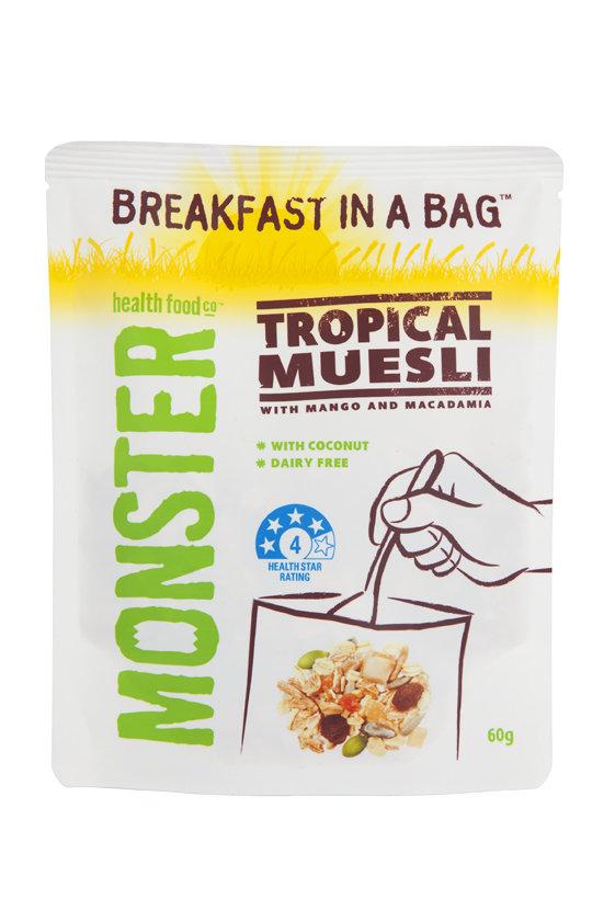 10 x 60g - Tropical Muesli - Breakfast in a Bag