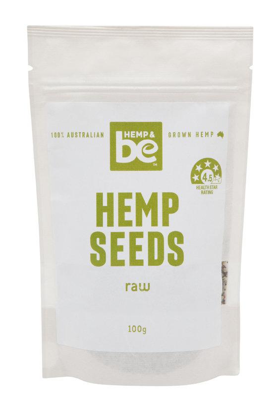 Hemp Seeds - Raw - 100g - HEMP & be