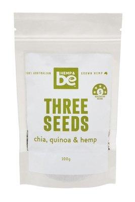 HEMP & be - Three Seeds - Hemp, Chia & Quinoa - 100g