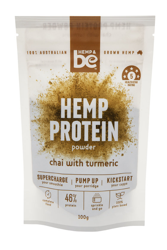 HEMP & be - Hemp Protein Powder - Chai with Turmeric - 100g - HEMP & be