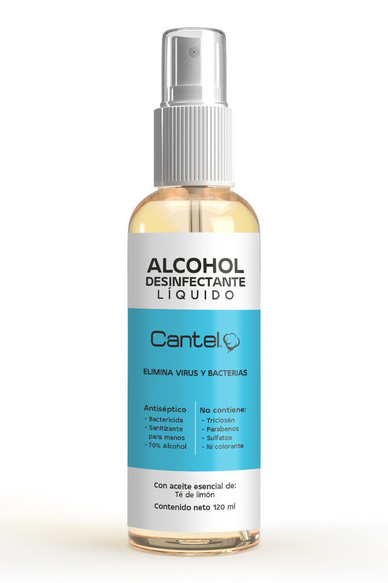 ALCOHOL LIQUIDO ANTIBACTERIAL CANTEL (120 ML)