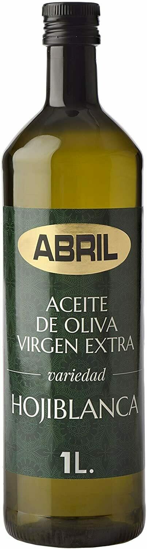 ACEITE EXTRA VIRGEN ACEITUNA HOJIBLANCA, ABRIL PET 1LT, JAEN ESPAÑA