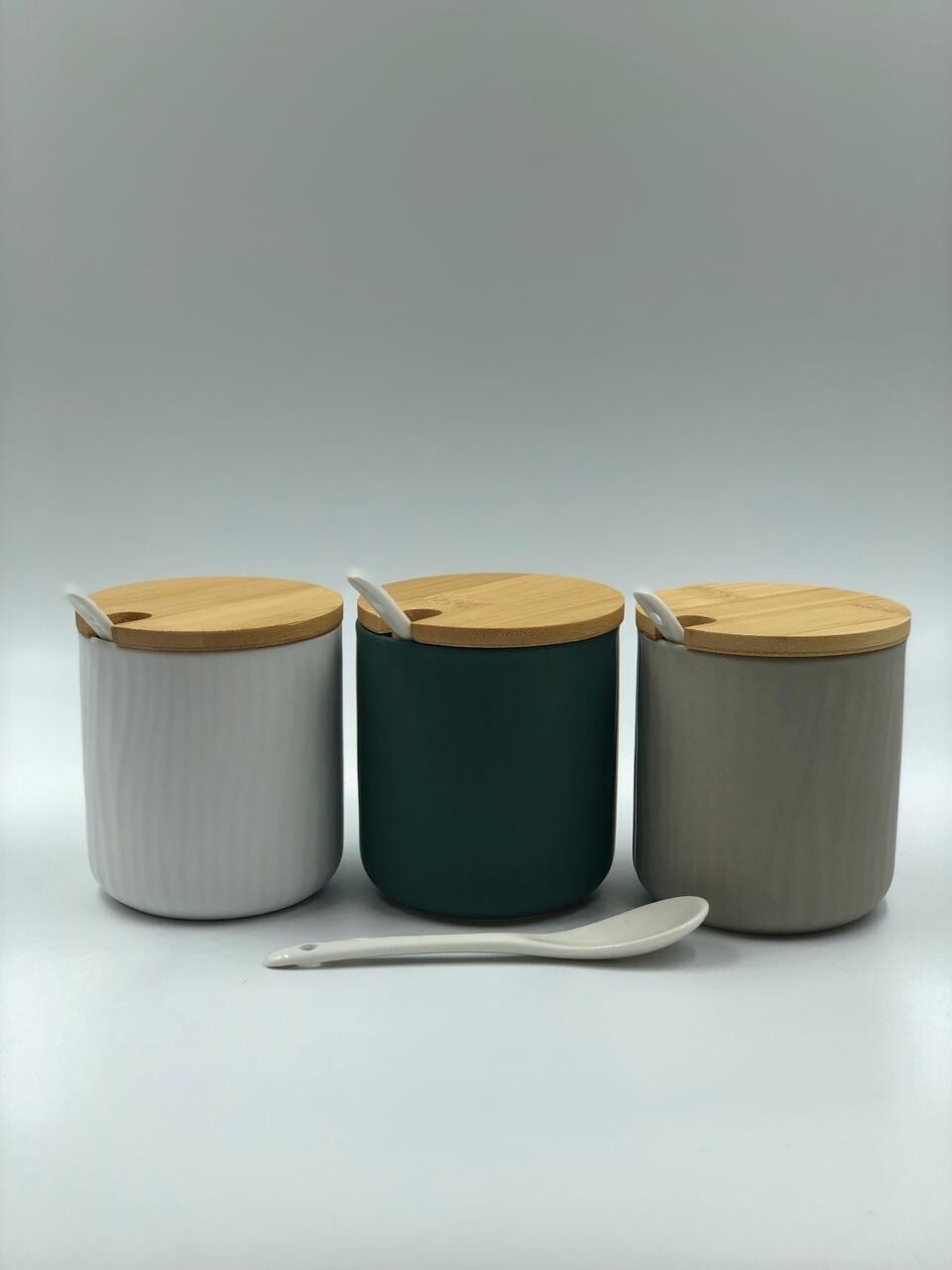 Set De 3 Recipientes Ceramica 300Ml