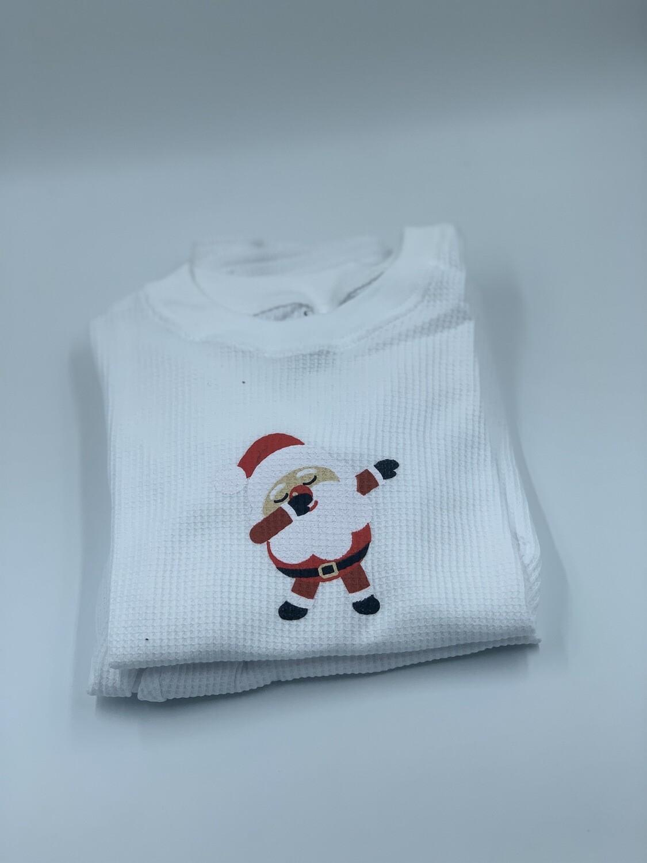 Pijama Niño Thermal Blanco Santa Claus Dancing