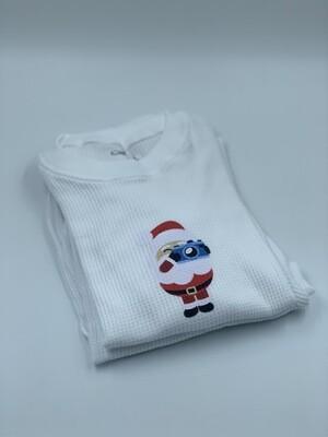 Pijama Niño Thermal Blanco Santa Claus Pics 2020
