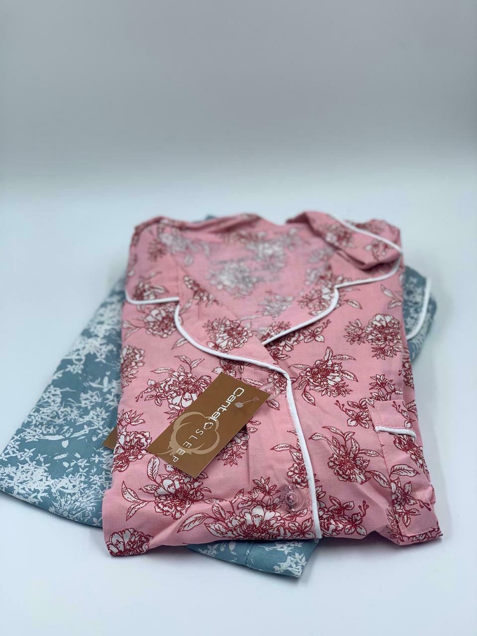 Pijama Cantel Sleep Dama Pantalón Y Blusa Kashy