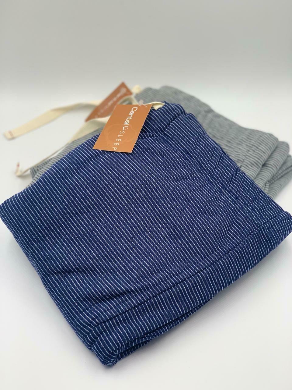 Pantalón Pijama Cantel Sleep Caballero 35%Alg/65%Pol Azul Línea