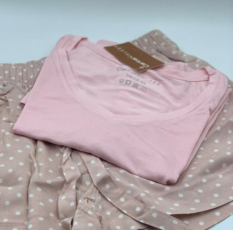 Blusa Mc Pijama Cantel Sleep Base Sabelas Dama Línea 20-21 Color Rosado