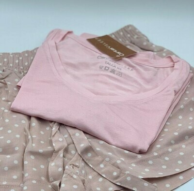 Blusa Mc Pijama Cantel Sleep Base Sabelas Dama Línea 20-21 Color Rosado