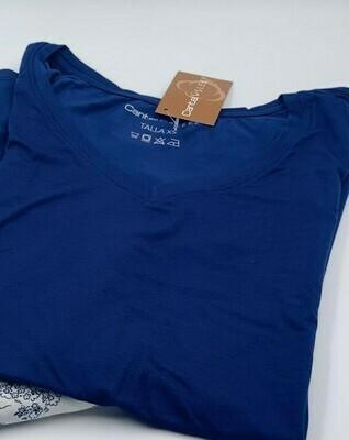 Blusa Mc Pijama Cantel Sleep Base Sabelas Dama Línea 20-21 Color Azul