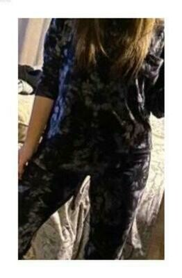 Pijama Cantel Sleep Dama Pantalón Y Blusa Tie Dye Negro/Gris