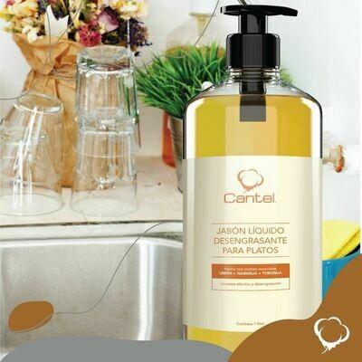 Jabón Para Lavar Platos Con Aceite Esencial Limón, Cantel  1000 Ml